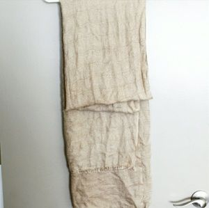 ❤ Large Cream / Tan Super Soft Wrap Scarf